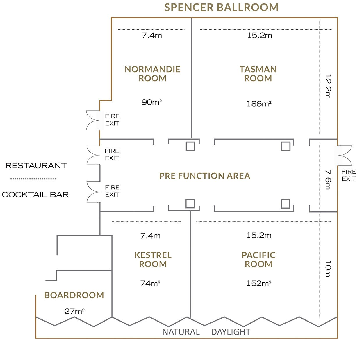 Spencer Hotel Event Spaces Floor Plan