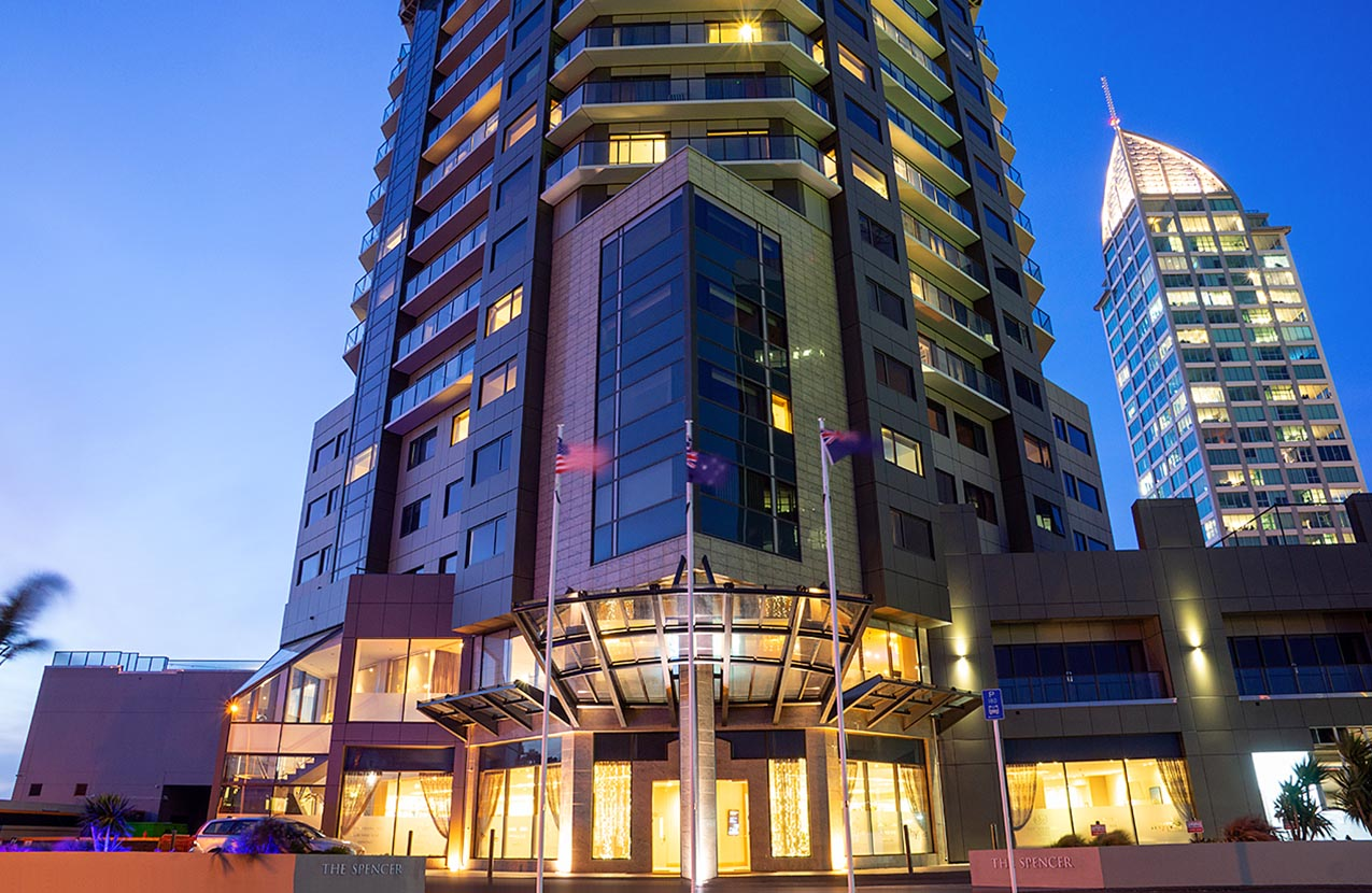 Spencer Hotel Exterior Dusk